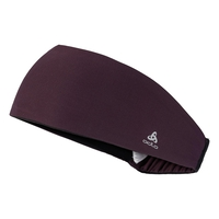 TRAINING WIDE Stirnband, plum perfect, large