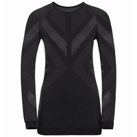 Damen NATURAL + KINSHIP WARM Baselayer-Top, black melange, large