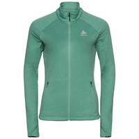 Women's PROITA Full-Zip Midlayer Top, malachite green, large
