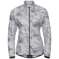 ZEROWEIGHT Jacke, odlo graphite grey - paper print SS19, large
