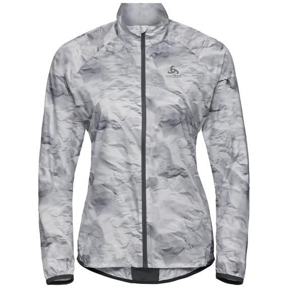ZEROWEIGHT Jacke, odlo graphite grey - paper print SS19, large