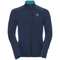 Midlayer full zip CARVE Warm, diving navy, large