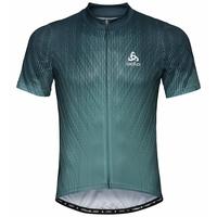 Maillot Cycle zippé à manches courtes ELEMENT PRINT pour homme, dark slate - arctic, large
