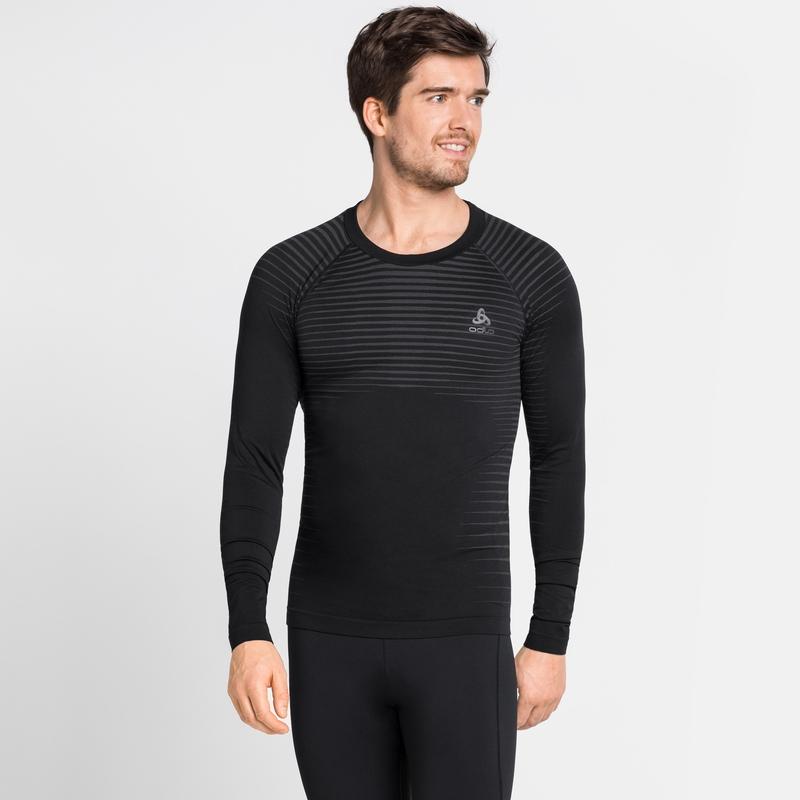 Herren PERFORMANCE LIGHT Base Layer Langarm-Shirt, black, large