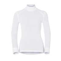 Women's ACTIVE WARM Turtle-Neck Long-Sleeve Base Layer Top, white, large