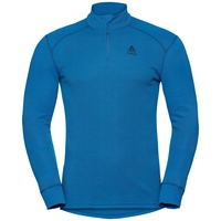 Men's ACTIVE WARM 1/2 Zip Turtle-Neck Long-Sleeve Base Layer Top, directoire blue, large