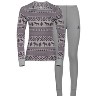 Set ACTIVE Originals WARM REINDEER, odlo concrete grey - vintage violet, large