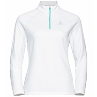 The Besso long sleeve mid layer half zip, white, large