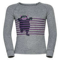 ACTIVE WARM ECO TREND KIDS Baselayer-Oberteil, grey melange - graphic FW20, large