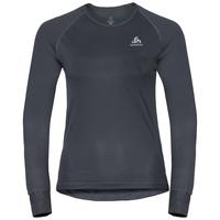 Shirt l/s crew neck CUBIC, ebony grey - black, large