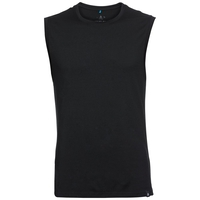 SUW TOP Crew neck Singlet NATURAL 100% MERINO WARM, black, large