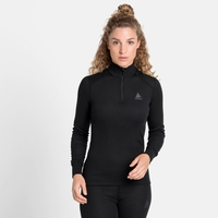 Women's ACTIVE WARM ECO Half-Zip Turtleneck Baselayer Top, black, large