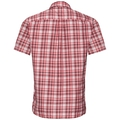 Shirt MYTHEN, white - red dahlia - chinese red - check, large