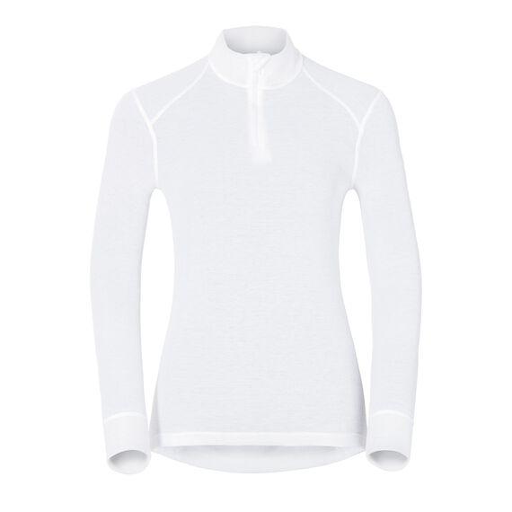 Shirt l/s turtle neck 1/2 zip ACTIVE ORIGINALS Warm, white, large