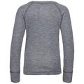 ACTIVE WARM TREND-sportonderkleding met lange mouwen voor kinderen (KLEIN), grey melange - placed print FW19, large
