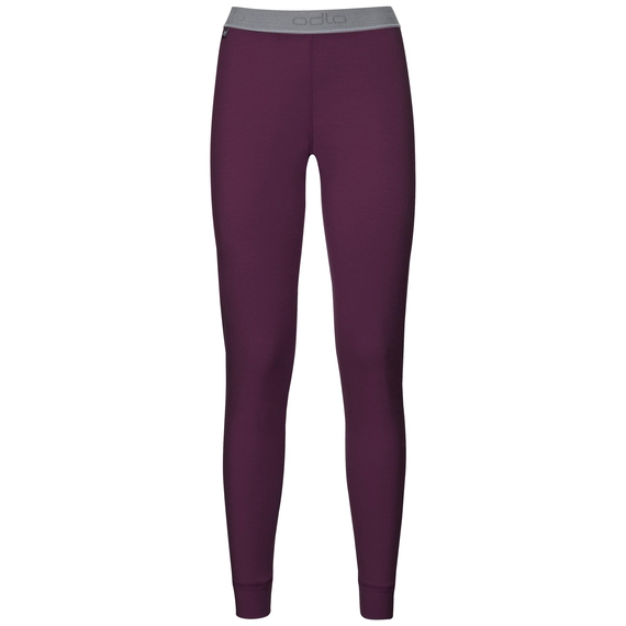 Natural 100 Merino Warm baselayer pants women, pickled beet, large