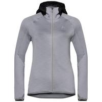 Veste intermédiaire à capuche KATJA pour femme, odlo concrete grey melange, large