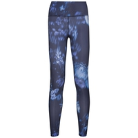 GIRLS LIGHT Tights, diving navy - flower AOP SS19, large
