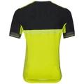 Shirt s/s full zip CERAMICOOL X-LIGHT, acid lime - black, large