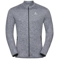 Midlayer full zip ALAGNA, grey melange, large