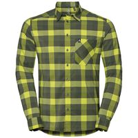 Shirt l/s NIKKO CHECK, acid lime - four leaf clover - climbing ivy - check, large