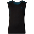 SUW TOP Crew neck Singlet PERFORMANCE Essentials LIGHT, black - blue jewel, large