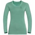 Damen NATURAL + LIGHT Base Layer Langarm-Shirt, creme de menthe, large