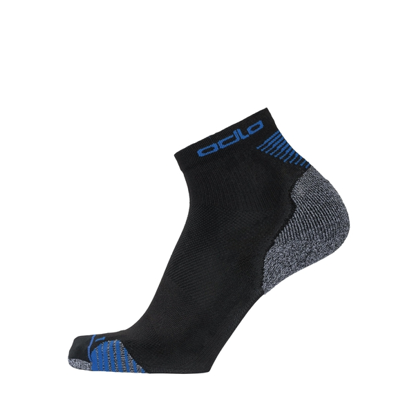 CERAMICOOL Quarter Socks, black - nebulas blue, large