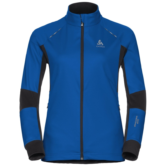 Jacket AEOLUS windstopper®, lapis blue - black, large