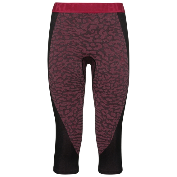 Sous-vêtement technique Collant ¾ BLACKCOMB pour femme, black - cerise - cerise, large