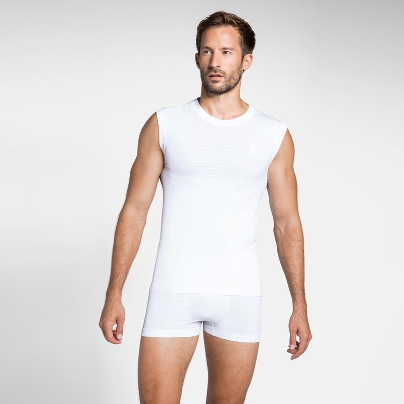 Herren PERFORMANCE LIGHT Base Layer Unterhemd, white, large