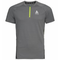 T-shirt da corsa con mezza zip AXALP TRAIL da uomo, odlo steel grey, large
