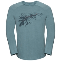 Men's CONCORD Long-Sleeve T-Shirt, arctic - mountain print SS19, large