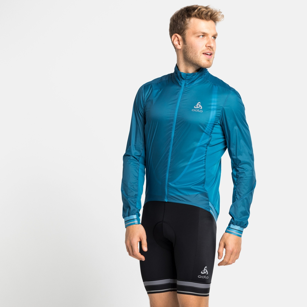 Men's ZEROWEIGHT DUAL DRY Cycling Jacket, mykonos blue, large