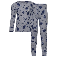 Set active originals Warm Kids Print, grey melange, large