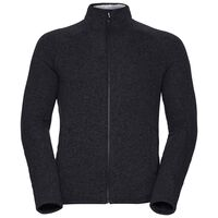Midlayer full zip Sherpa Jacket, black melange, large