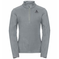 ROYALE KIDS Midlayer mit 1/2 Reißverschluss, grey melange - odlo concrete grey, large