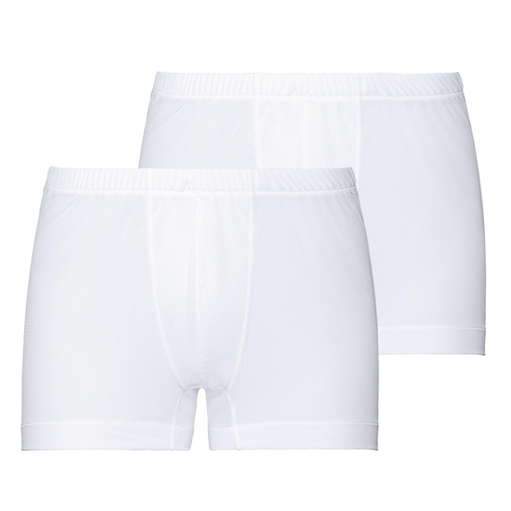 ACTIVE CUBIC LIGHT Boxershorts im Doppelpack, white - snow white, large