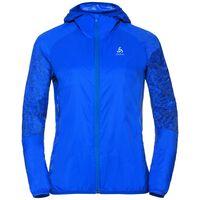 WISP Jacket women, energy blue - placed print SS18, large