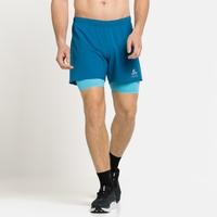 Short da corsa ZEROWEIGHT 5 INCH 2-in-1 da 12,7 cm da uomo, mykonos blue - horizon blue, large