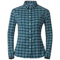Blouse l/s BURNABY, ponderosa pine - algiers blue check, large