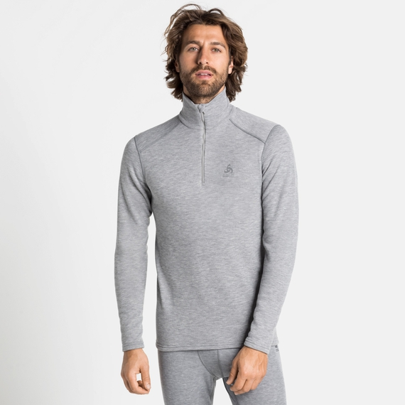 Men's ACTIVE THERMIC Turtleneck Baselayer, grey melange, large