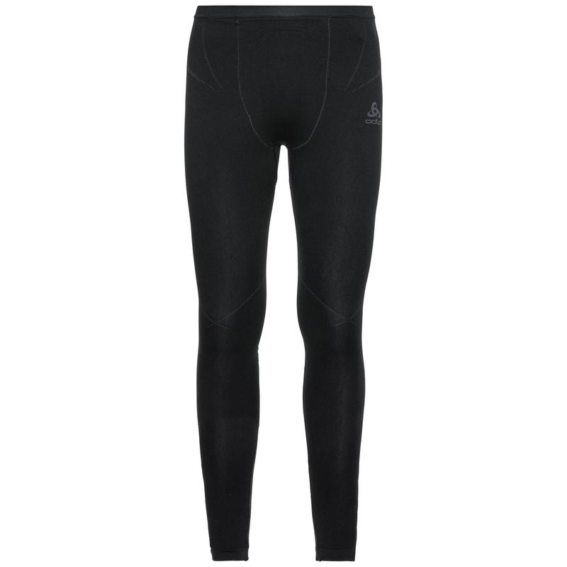 Men's PERFORMANCE EVOLUTION WARM Base Layer Pants, black - odlo graphite grey, large