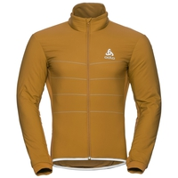 Men's ZEROWEIGHT S-THERMIC Cycling Jacket, golden brown, large