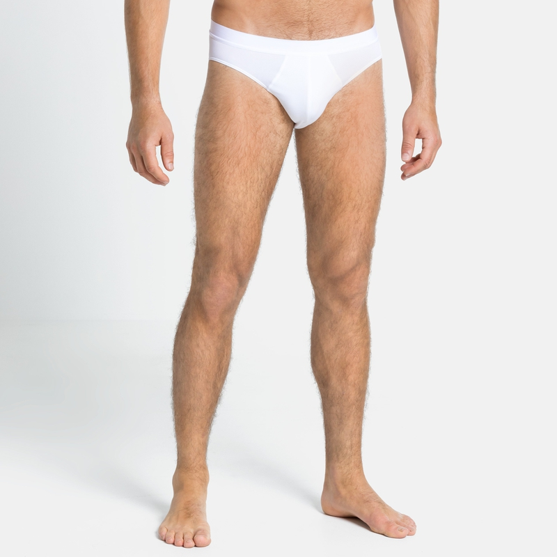 Men's ACTIVE F-DRY LIGHT Sports Underwear Brief, white, large