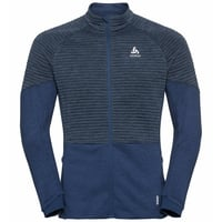 Men's MILLENNIUM YAKWARM Midlayer Top, estate blue melange, large