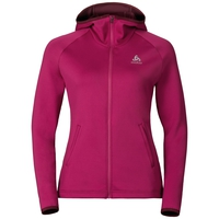 Hoody midlayer full zip PULSE, sangria, large