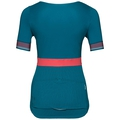 Stand-up collar s/s 1/2 zip CERAMICOOL X-LIGHT, crystal teal, large