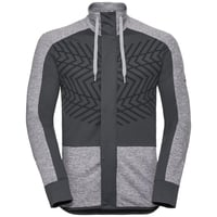 Men's SKADI LIGHT Midlayer, grey melange - odlo graphite grey, large