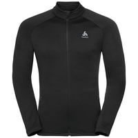 Midlayer full zip SNOWBIRD CITY, black -  NORWEGIAN flag, large